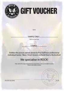 rockschool voucher xmas 2015